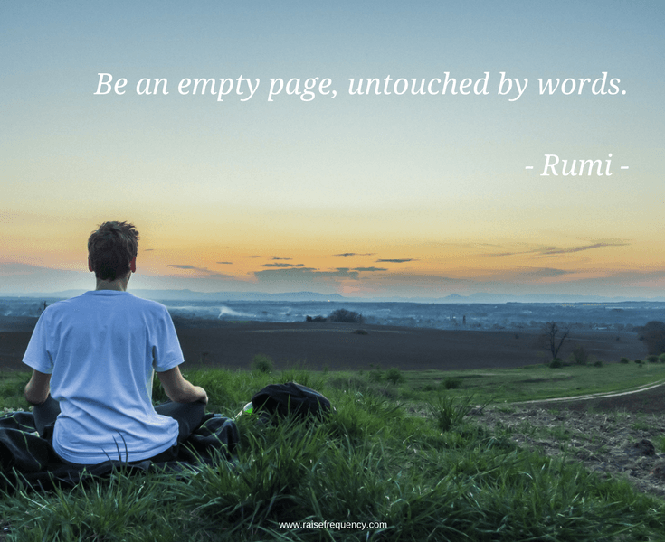 Be an empty page by Rumi