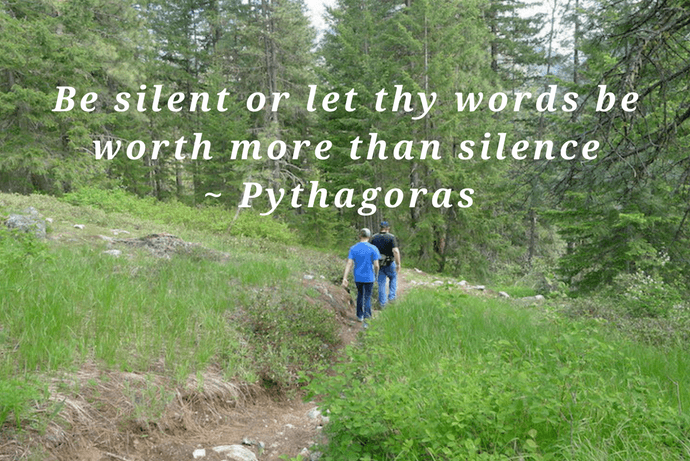 Be silent or let thy words be worth more than silence  Pythagoras