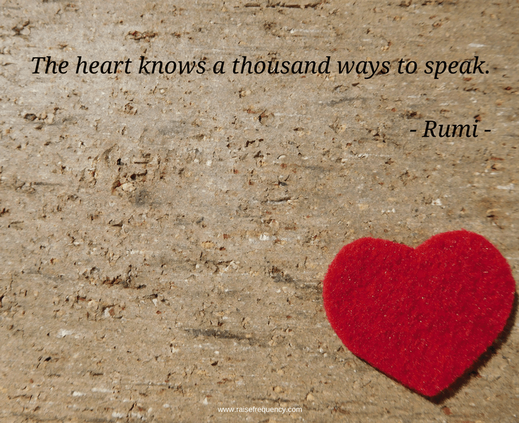 Heart knows quote by Rumi