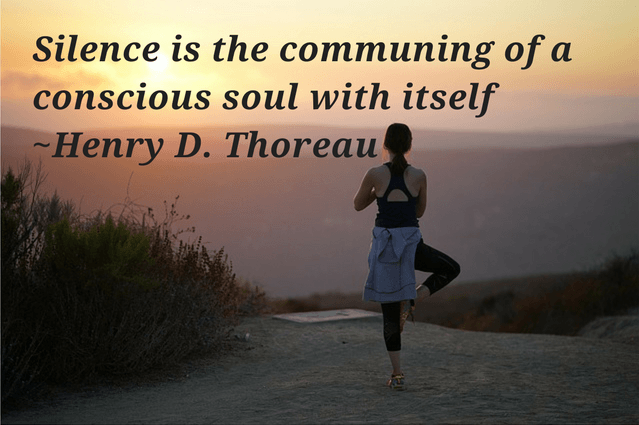 Silence is the communing of a conscious soul with itself Henry David Thoreau  quote on silence