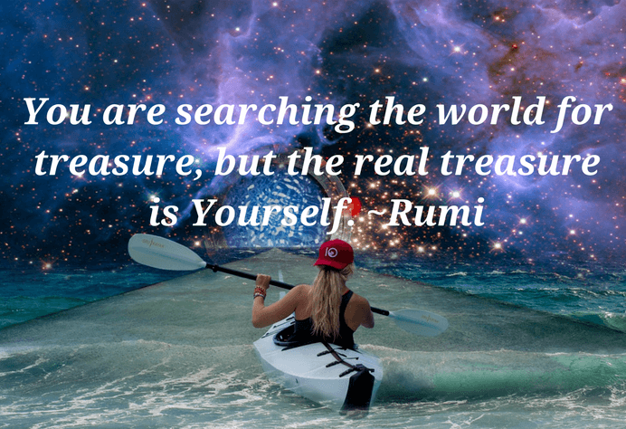 Self worth quotes - The real treasure is Yourself quote on self worth by Rumi