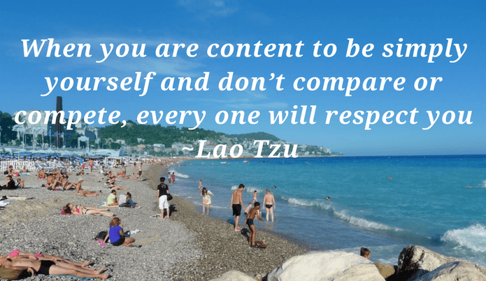 When you are content to be simply yourself quote by Lao Tzu - Self worth quotes