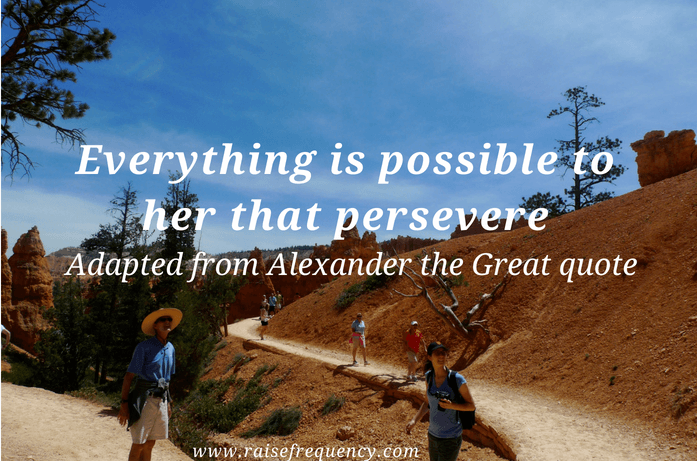 Everything is possible to her quote - Empowering quotes for women