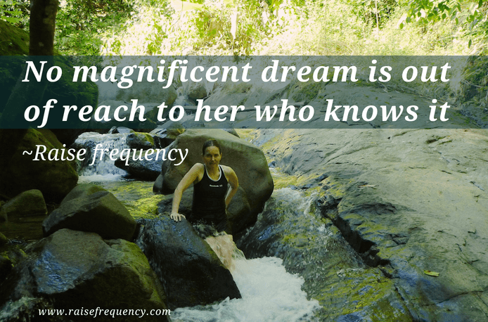 No magnificent dream is out of reach to her - Empowering quotes for women