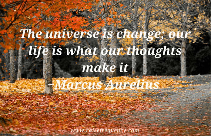 The universe is change quote by Marcus Aurelius - Empowering quotes